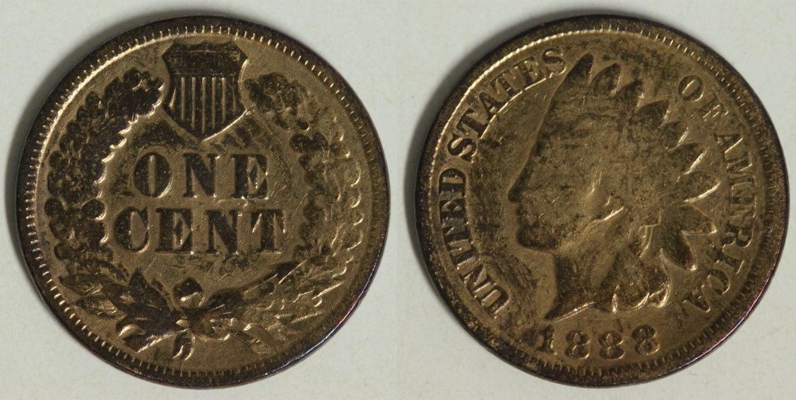 1 Cent 1888 USA Indian Head s-ss