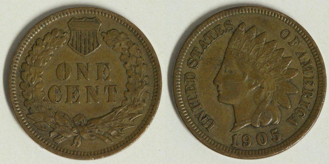 1 Cent 1905 USA Indian Head ss+/kl.Rf.