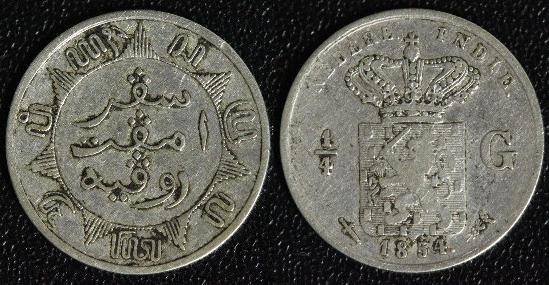 14 Gulden 1854 Niederlande Ost Indien Fss Ma Shops
