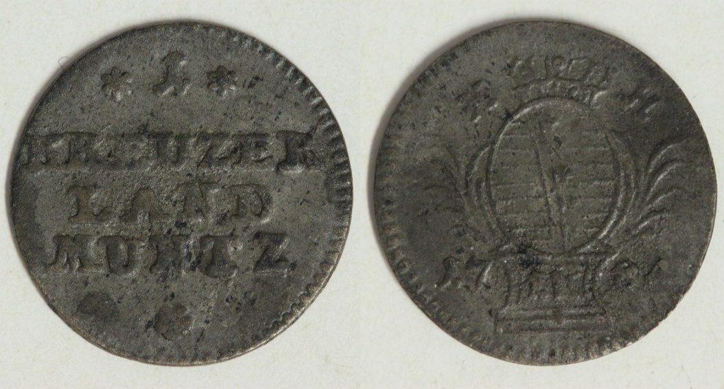 1 Kreuzer 1784 Sachsen-Hildburghausen f.ss