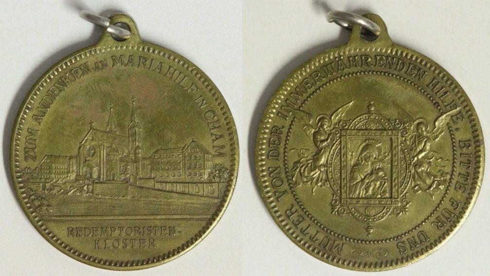 Medaille o.J. (1902) Cham, Bayern Wallfahrtsmedaille vz/l.fl.