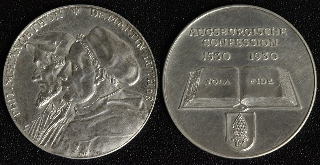 Medaille 1930 Sachsen 400 Jahre Augsburger Konfession vz+/l.ber./Rf.