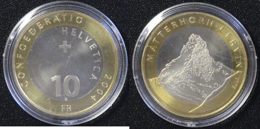 10 Franken 2004 Schweiz 10 SFR Matterhorn ST