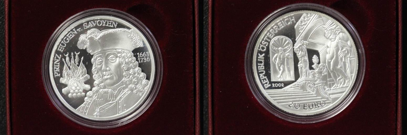 20 Euro 2002 Österreich 20€ Die Barockzeit PP/OVP/Zert.
