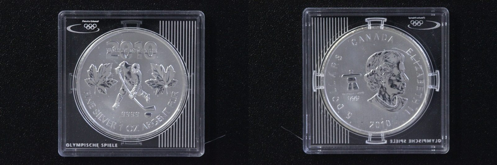 5 Dollar 2010 Kanada 5 $ 2010 Vancouver Eishokey st/Zertifikat