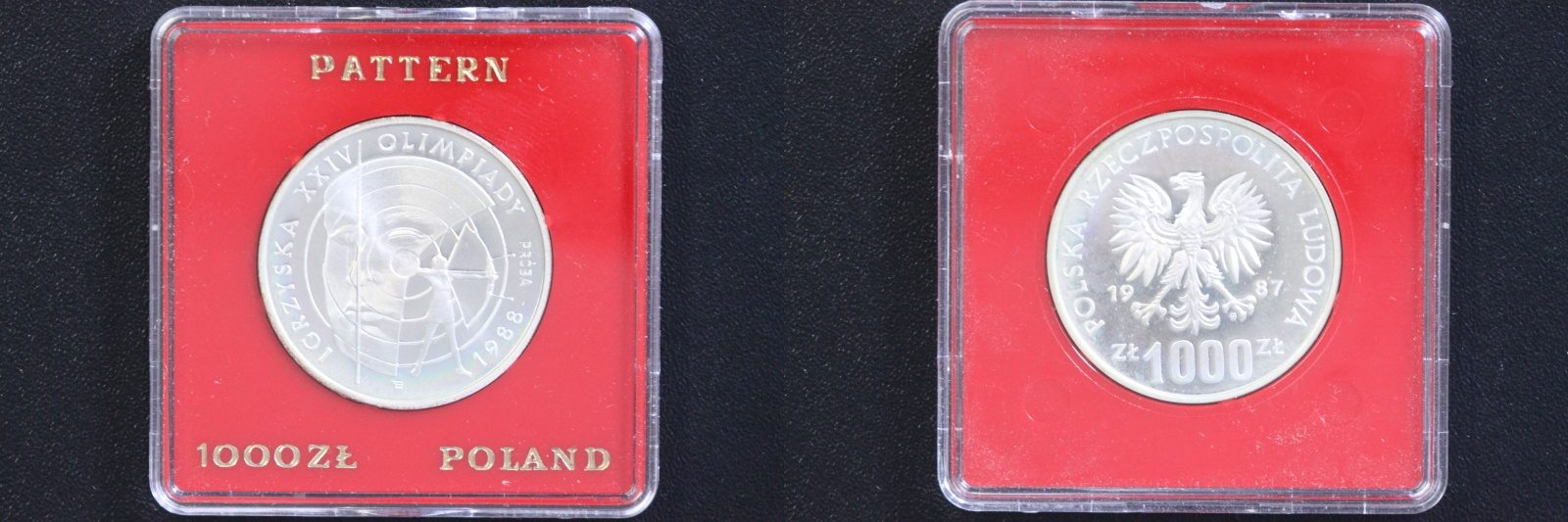 1000 Zloty 1986 Polen PROBE - Oly. Seoul 1988 - Bogenschießen PP