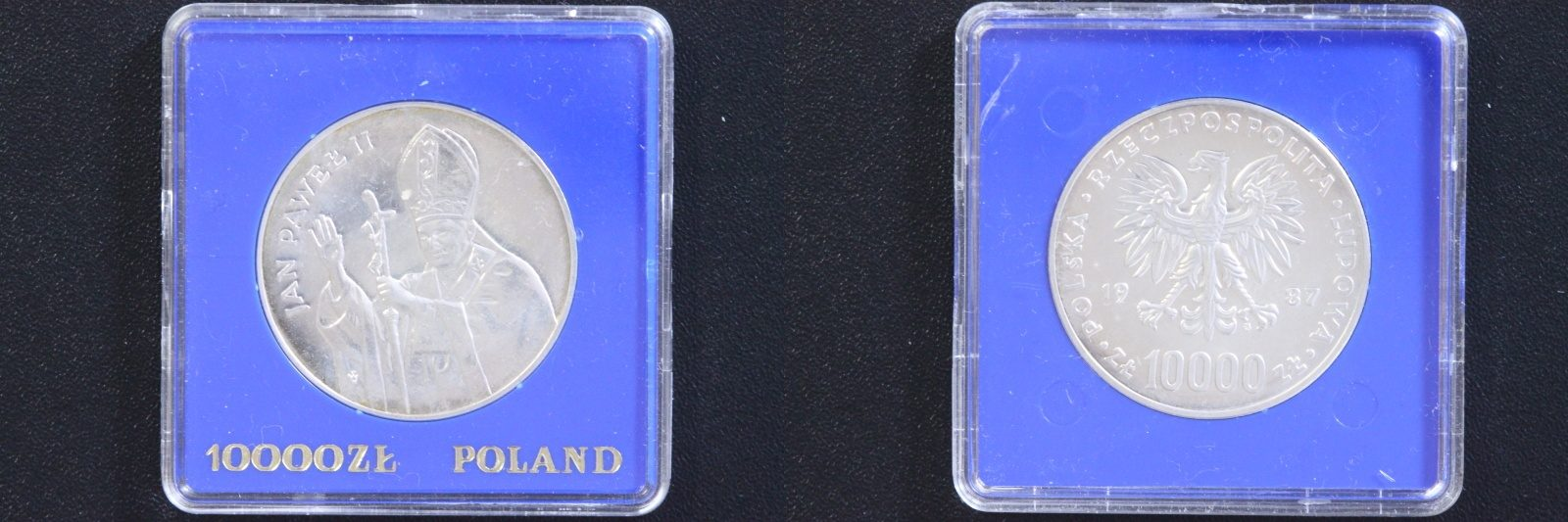 10000 Zloty 1987 Polen Papst Johannes Paul st