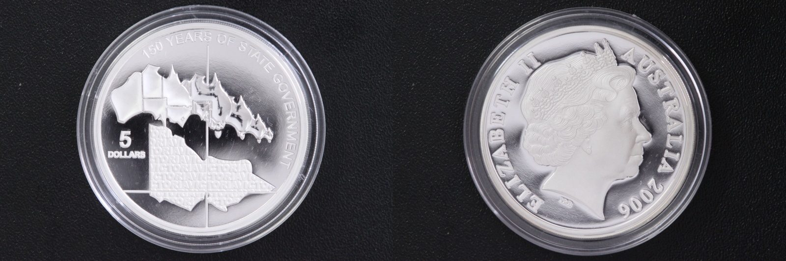 5 Dollar 2006 Australien 5$ - 150 Jahre Staatsregierung - Victoria PP/Etui/Zert