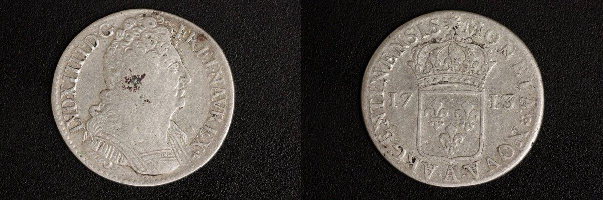 1/2 Ecu 1713 A Frankreich 1/2 Ecu - Ludwig XIV s-ss