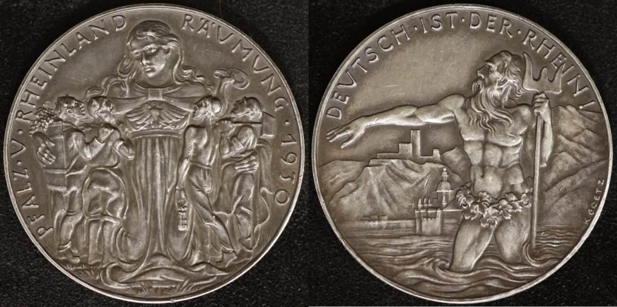 AG-Medaille 1930 Bayern Karl Götz vz, mattiert