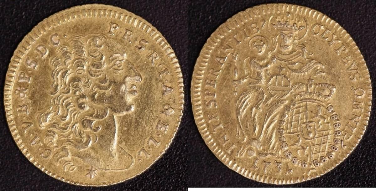 1/2 Karolin 1731 Bayern, Kurfürstentum Karl Albert (1726-45) ss-vz, selten