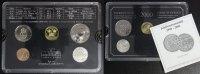 Schweden Kursmünzensatz Millenniums-Satz - 50 Öre bis 5 Kronor incl. Silber-Medaille