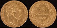 20 Francs 1865 Belgien Leopold I. (1830-65) ss  250,00 EUR  zzgl. 5,00 EUR Versand