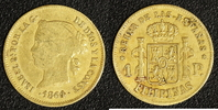 1 Peso 1864 auf 1860 Spanien / Philippinen Isabella II. 1833-68 s-ss  220,00 EUR  zzgl. 5,00 EUR Versand