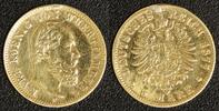 5 Mark 1877 Deutschland Württemberg 5 Mark 1877 ss, Henkelspur  200,00 EUR  zzgl. 5,00 EUR Versand
