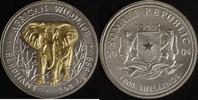 1000 Schillings 2004 Somalia Elefant vz-st, teilvergoldet  95,00 EUR  zzgl. 5,00 EUR Versand