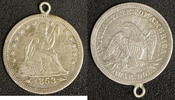 1/4 Dollar 1853 USA  ss/ Henkel  15,00 EUR  zzgl. 5,00 EUR Versand