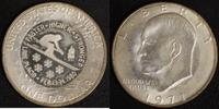 1 Dollar 1980/1971 USA Eisenhower Gegenstempel Lake Placid vz  55,00 EUR  zzgl. 5,00 EUR Versand