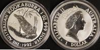 1 Dollar 1992 Australien 1 $ Kookaburra 1992 st st  27,00 EUR  zzgl. 5,00 EUR Versand
