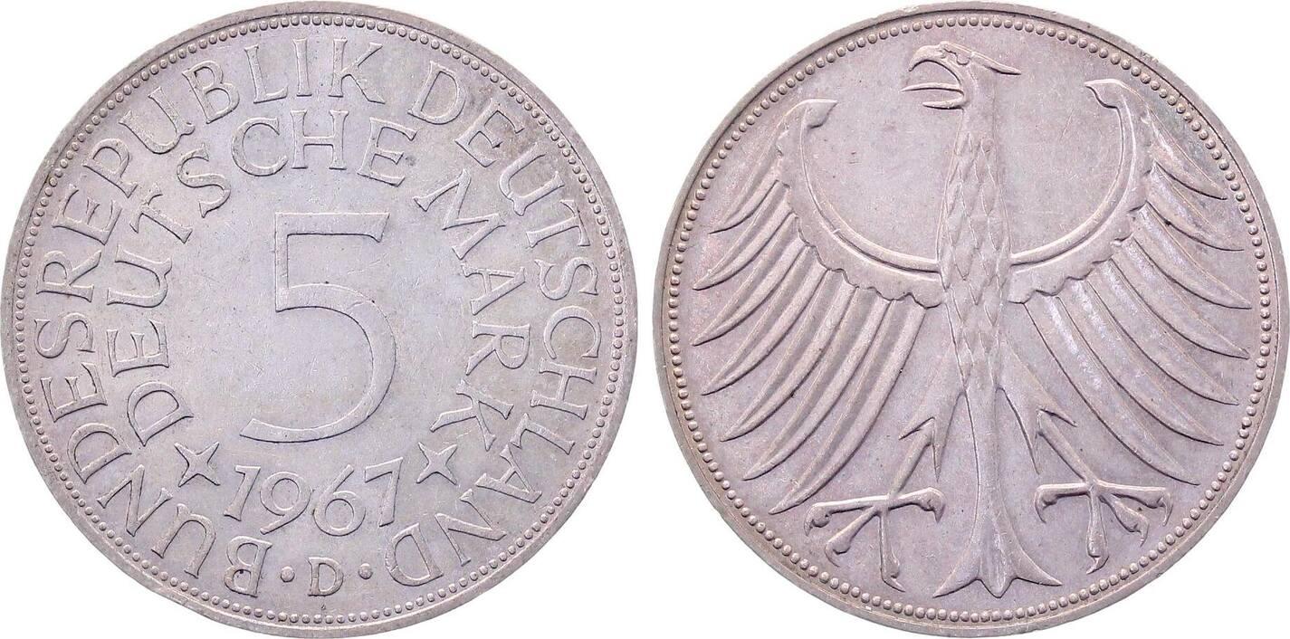 5 DM 1967 D d 1967D bfr. bfr.