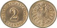 Kaiserreich 2 Pfennig 1875C vz-