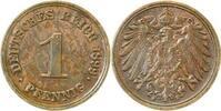 Kaiserreich 1 Pfennig 1899F f.vz etwas fleckig
