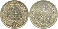 Kaiserreich 0.5 Mark 1907F vz/st EA !!!