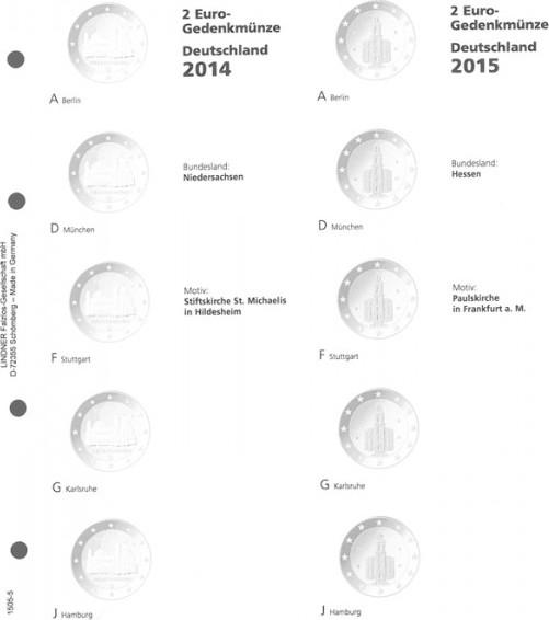 Vordruckblatt Karat 2 Euro Gedenkmünze Deutsche Bundesländer 2014