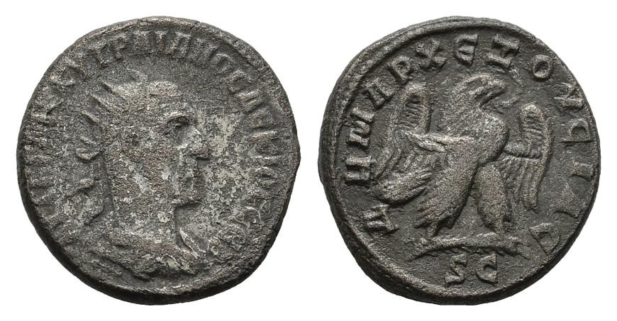 B-Tetradrachme, Antiocha am Orontes RÖMISCHE KAISERZEIT Traianus Decius, 249-251. Sehr schön