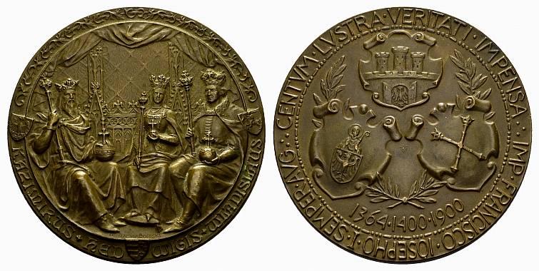 Bronzemedaille 1900.(v. W. Trojanowski) POLEN Stadt. Vorzüglich-stempelglanz