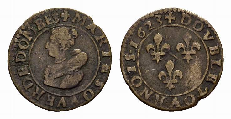 Double Tournois FRANKREICH/FEODALES Marie de Montpensier, 1608-1626. Sehr schön