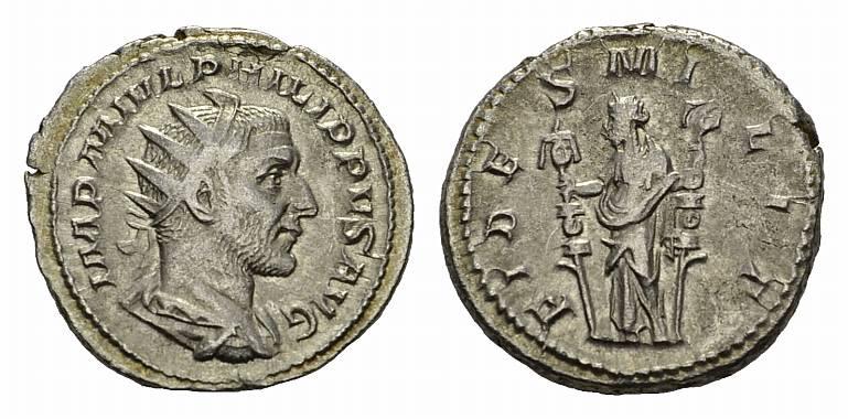 AR-Antoninian, Rom. RÖMISCHE KAISERZEIT Philippus I.(Arabs), 244-249. Sehr schön-vorzüglich