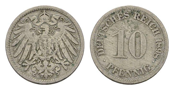10 Pfennig 1898, D. Deutsches Reich Sehr schön +.