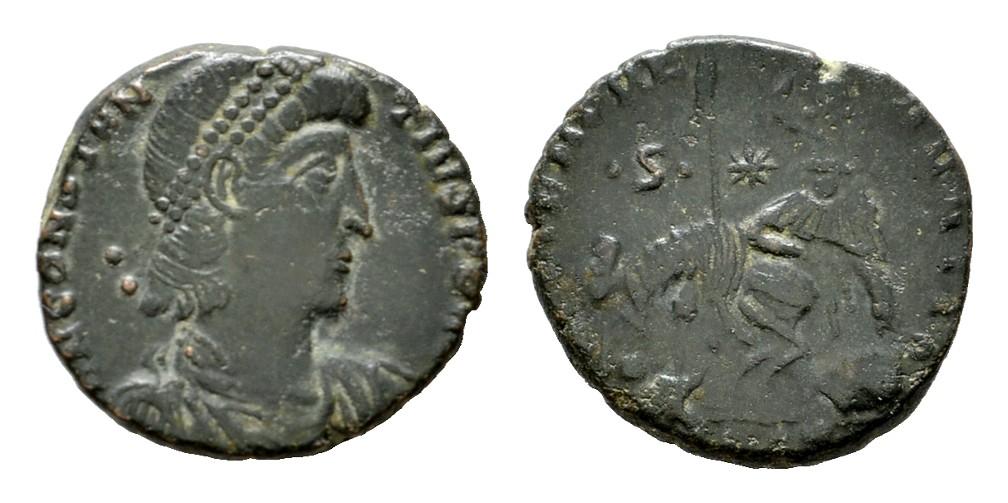 Æ-Maiorina, MZ verloren. RÖMISCHE KAISERZEIT Constantius II., 337-361. Sehr schön-vorzüglich.