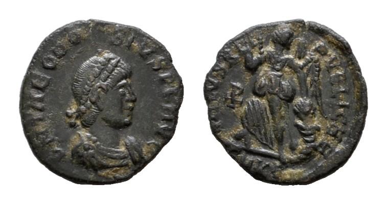 Æ-Halbcentenionalis, Cyzicus. RÖMISCHE KAISERZEIT Theodosius I., 379-395. Sehr schön +.