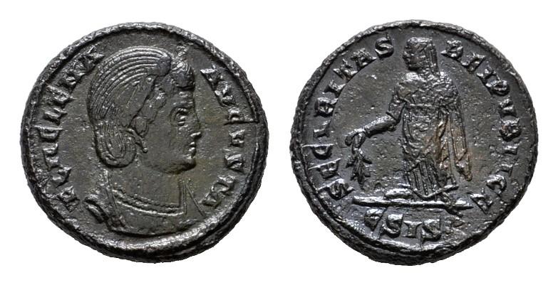 Æ-Follis, Siscia. RÖMISCHE KAISERZEIT Constantius II., 337-361 für Helena. Vorzüglich.