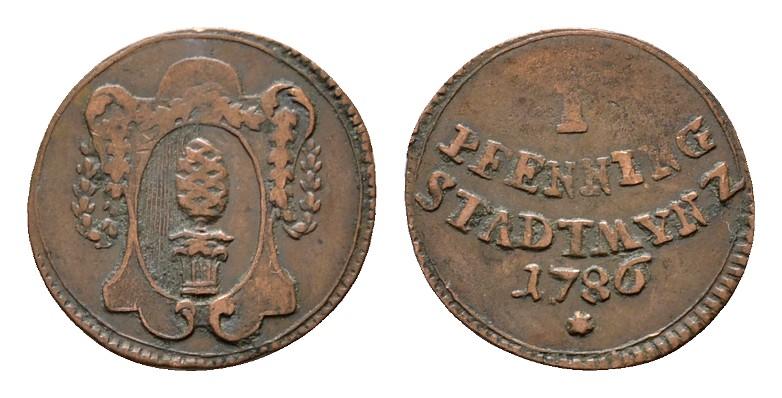 Pfennig 1786. AUGSBURG Sehr schön.