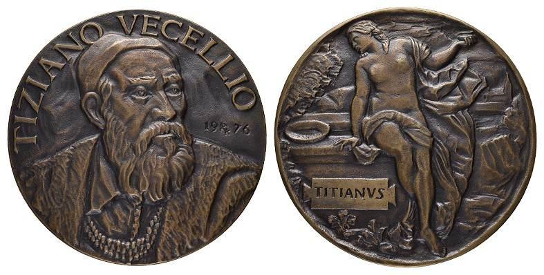 Bronzegussmedaille (Kalman Renner) 1976. MISCELLANEA Tiziano Vecellio Gussfrisch.