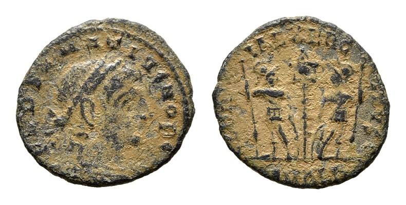 Æ 3-4, Alexandria. RÖMISCHE KAISERZEIT Constantinus I., 306-337 für Delmatius.