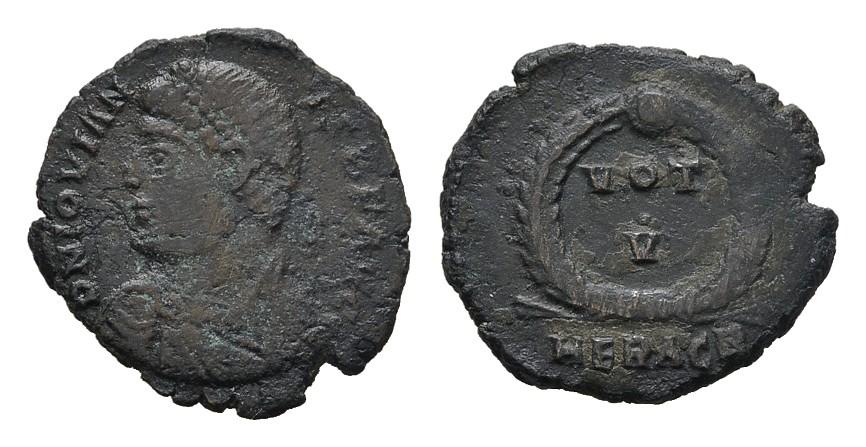 Æ-3 20mm, Heraclea. RÖMISCHE KAISERZEIT Jovianus, 363-364. Sehr schön.