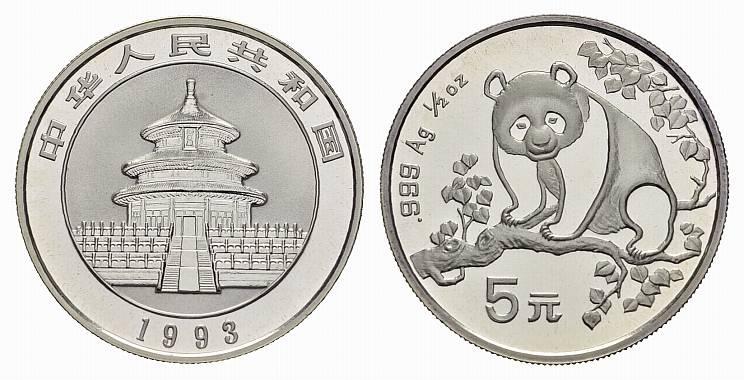 5 Yuan 1993. CHINA Volksrepublik. Stempelglanz