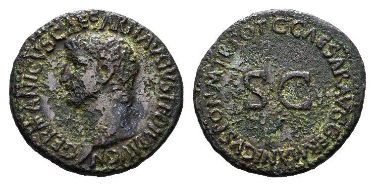 Æ-As 37-38. RÖMISCHE KAISERZEIT Germanicus 37-38, unter Gaius Caligula Sehr schön