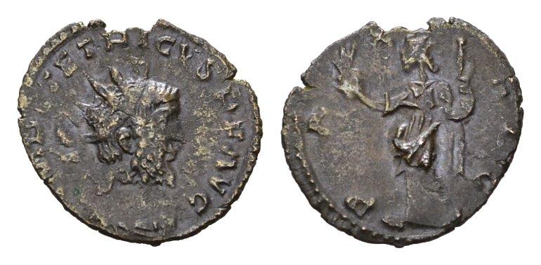 Antoninian, Colonia Agrippina (Köln) 273 n.Chr. RÖMISCHE KAISERZEIT Tetricus I., 271-274. Sehr schön +
