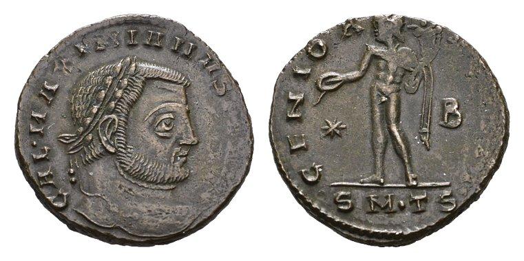 Æ-Follis 309-310, Thessaloniki. RÖMISCHE KAISERZEIT Maximianus II. Galerius, 293-311 für Galeria Valeria. Sehr schön