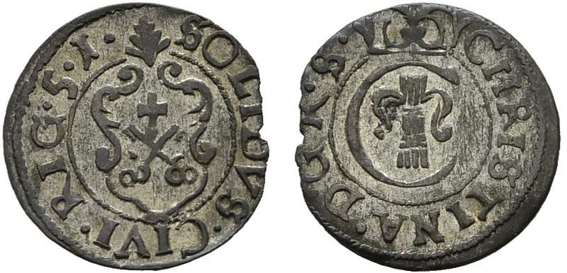Schilling 1651. BALTIKUM Unter Schweden. Christina, 1632-1654. Vorzüglich.