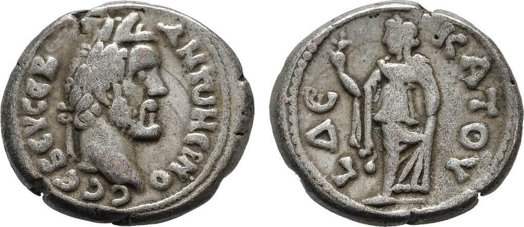 B-Stater Jahr 10 AEGYPTUS ALEXANDRIA. Antoninus I. Pius, 138-161. Fast sehr schön