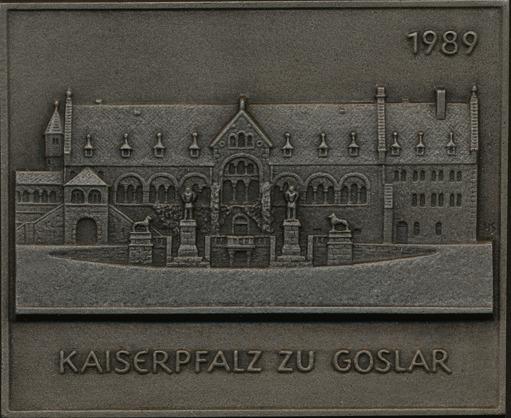 Einseitige Eisengussplakette (HS) 1989. STÄDTEMEDAILLEN Gussfrisch