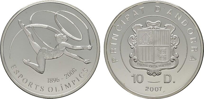 10 Deniers 2007 ANDORRA Parlamentarische Monarchie. Polierte Platte