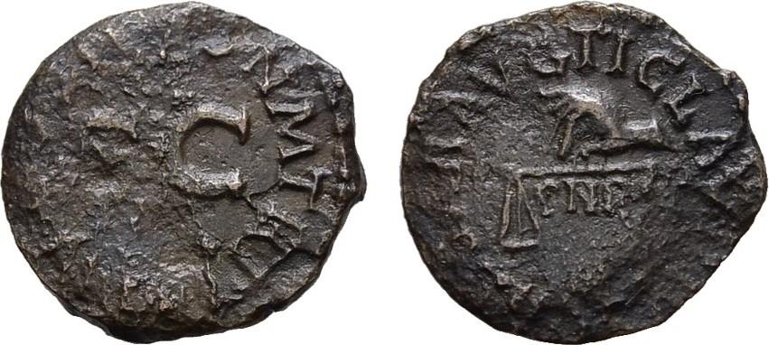 Æ-Quadrans 41, Rom. RÖMISCHE KAISERZEIT Claudius, 41-54. Korr. Schön - Sehr schön