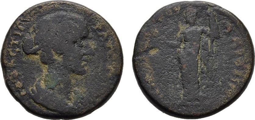 Bronze RÖMISCHE KAISERZEIT Marcus Aurelius, 161-175 für Faustina II. Schön-